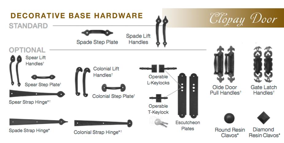 Decorative Hardware Garage Doors Contractors